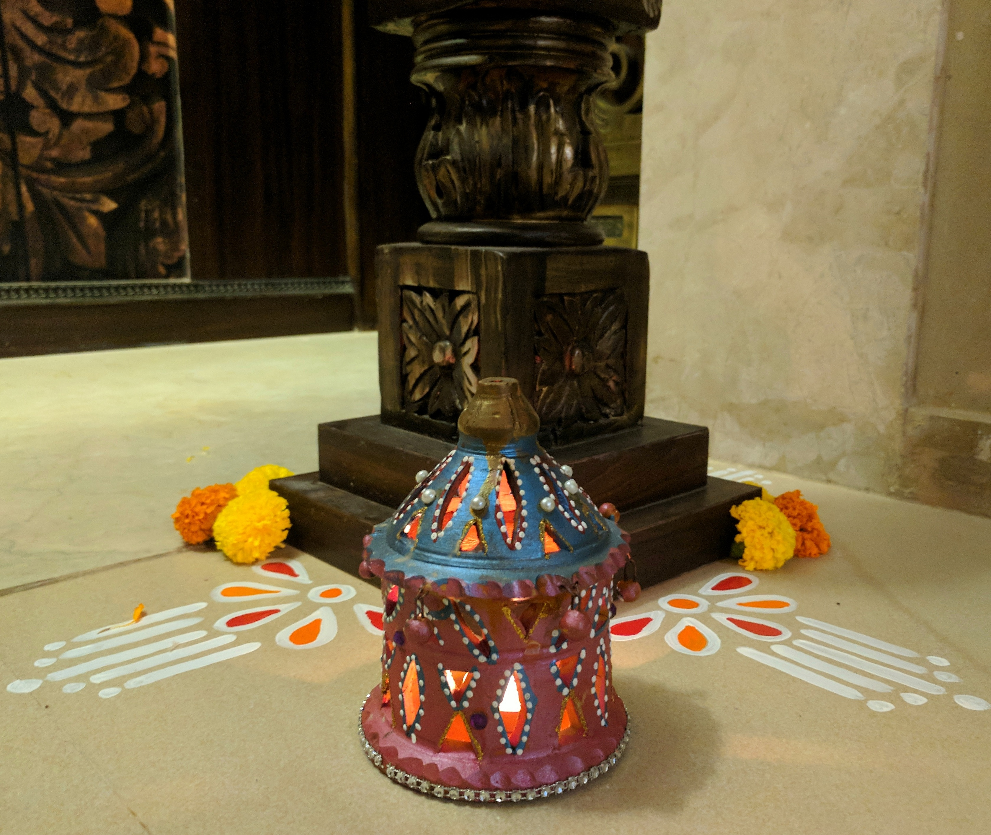 Decorating Home For Diwali: Decorating For Diwali Dinner (4) • One Brick At A Time