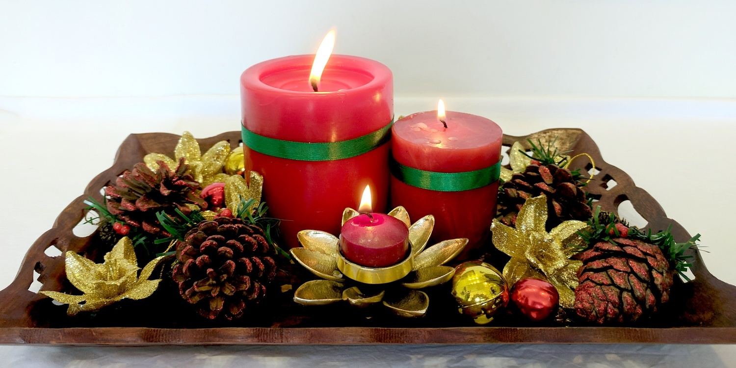 5 Simple Christmas Candle Decor Ideas For You • One Brick ...