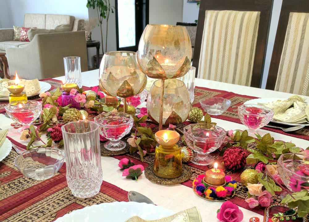 A Bright And Floral Diwali Tablescape One Brick At A Time